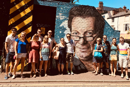 Group enjoying the Northern Quarter Taster tour